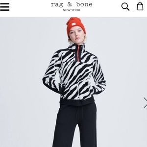 Rag & bone zebra print sherpa sweater size xs
